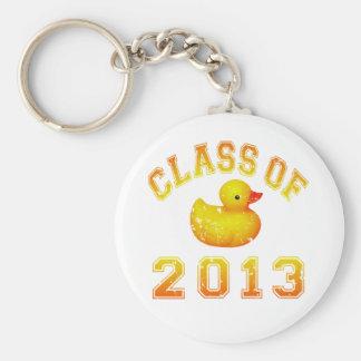 Class Of 2013 Rubber Duckie - Yellow/Orange Keychain