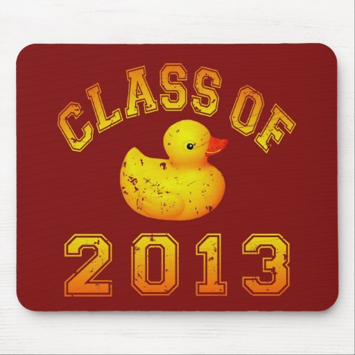 Class Of 2013 Rubber Duckie - Yellow/Orange Mouse Pad
