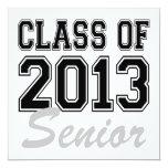 """Class of 2013 Senior 5.25"""" Square Invitation Card"""