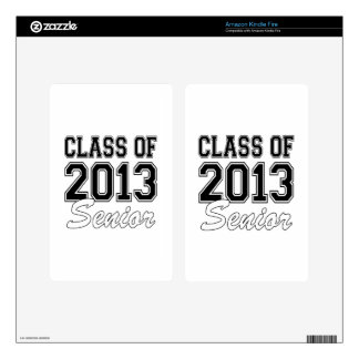 Class of 2013 Senior Decal For Kindle Fire