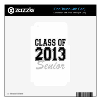 Class of 2013 Senior iPod Touch 4G Skin