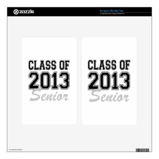 Class of 2013 Senior Kindle Fire Decal