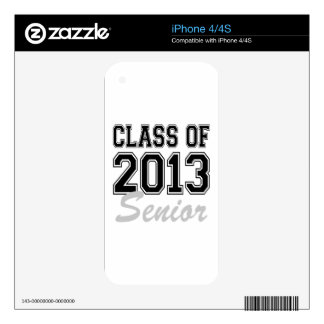 Class of 2013 Senior Skin For The iPhone 4