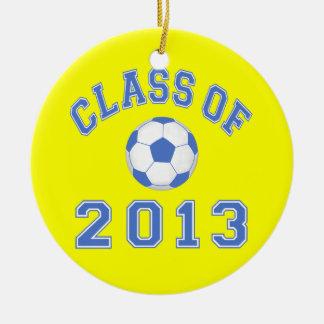 Class Of 2013 Soccer - Blue/White 2 Ceramic Ornament