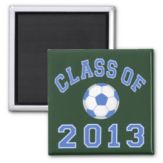 Class Of 2013 Soccer  Blue/White 2 Magnet