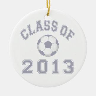 Class Of 2013 Soccer - Grey 2 Ceramic Ornament