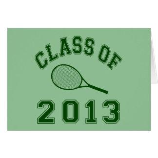 Class Of 2013 Tennis Card