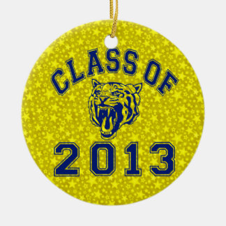 Class Of 2013 Tiger Double-Sided Ceramic Round Christmas Ornament