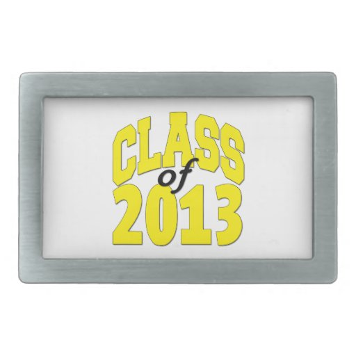 Class of 2013 Yellow Belt Buckles