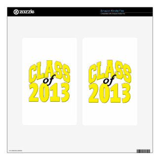 Class of 2013 Yellow Decal For Kindle Fire