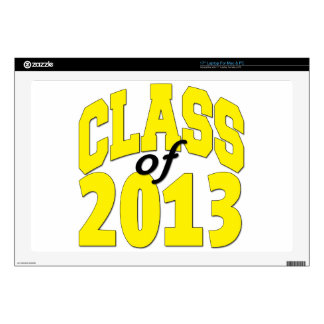 """Class of 2013 Yellow Decals For 17"""" Laptops"""