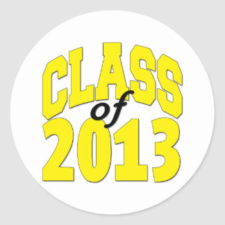 Class of 2013 Yellow Round Stickers