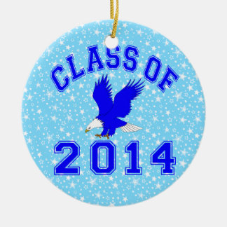 Class Of 2014 American Eagle Double-Sided Ceramic Round Christmas Ornament