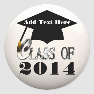 Class Of 2014, Any Year Custom Graduation Stickers