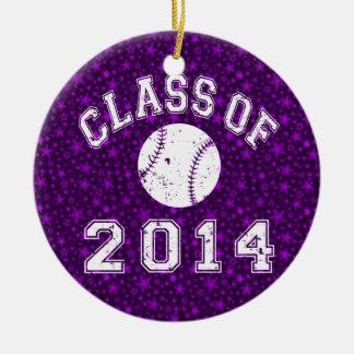 Class Of 2014 Baseball Ceramic Ornament