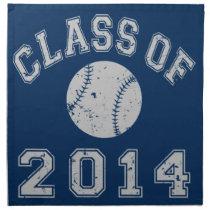 Class Of 2014 Baseball Cloth Napkin