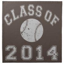Class Of 2014 Baseball Napkin