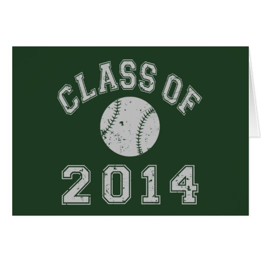 Class Of 2014 Baseball Stationery Note Card
