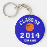Class Of 2014 Basketball Basic Round Button Keychain
