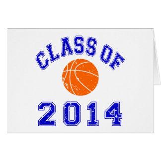 Class Of 2014 Basketball - Orange/Navy 2 Card