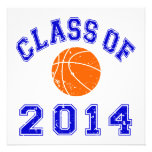 Class Of 2014 Basketball - Orange/Navy 2 Custom Invite