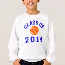 Class Of 2014 Basketball - Orange/Navy 2 Sweatshirt