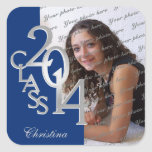 Class of 2014 Blue and Silver Graduation Stickers