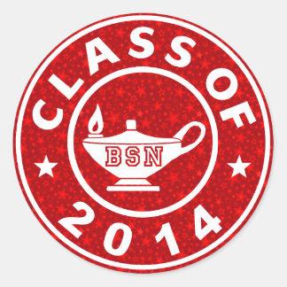 Class Of 2014 BSN Classic Round Sticker