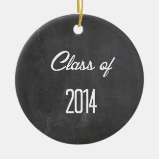 class of 2014 ceramic ornament
