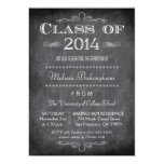 Class of 2014 chalkboard graduation party invite