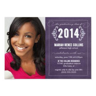 Class of 2014 Chalkboard Graduation Photo Invite