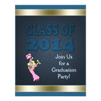 Class of 2014 Customized Girl Graduation Party Personalized Invitation