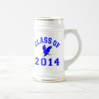 Class Of 2014 Eagle - Blue 2 Beer Stein