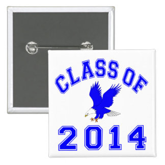 Class Of 2014 Eagle - Blue 2 Pinback Buttons