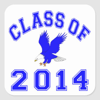 Class Of 2014 Eagle - Blue 2 Stickers