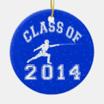 Class Of 2014 Fencing Christmas Ornaments