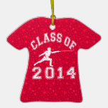 Class Of 2014 Fencing Christmas Tree Ornaments
