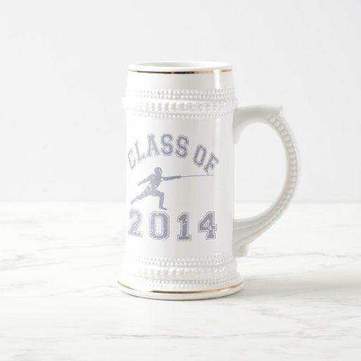 Class Of 2014 Fencing - Grey 2 18 Oz Beer Stein
