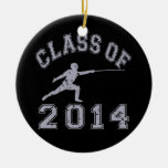 Class Of 2014 Fencing - Grey 2 Christmas Ornament