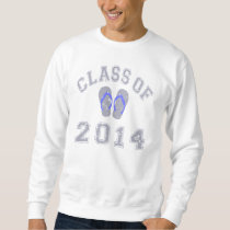 Class Of 2014 Flip Flop - Grey-Blue 2 D Sweatshirt