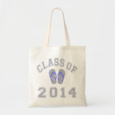 Beach Themed Class Of 2014 Flip Flop - Grey-Blue 2 D Tote Bag
