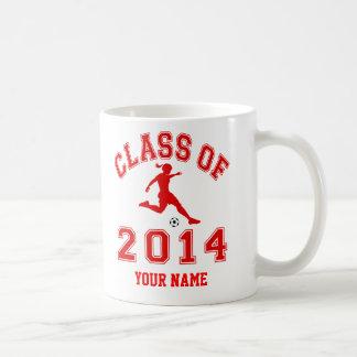 Class Of 2014 Girl Soccer Coffee Mug