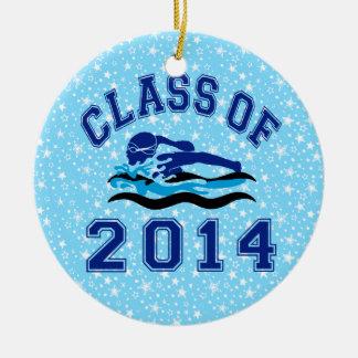 Class Of 2014 Girl Swimming Ceramic Ornament