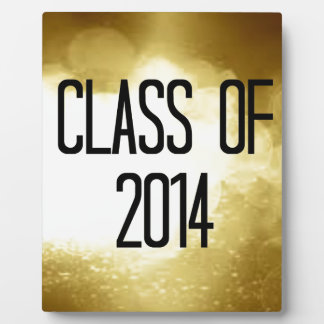 class of 2014 gold background plaque