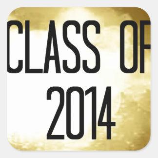 class of 2014 gold background sticker
