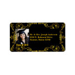 Class of 2014 Gold Black Victorian Address Labels