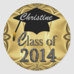 Class Of 2014 Gold Graduation Stickers