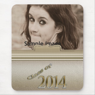 Class of 2014 Gold Personalized Graduation Photo Mouse Pad