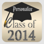 Class Of 2014 Gold & Silver Graduation Stickers