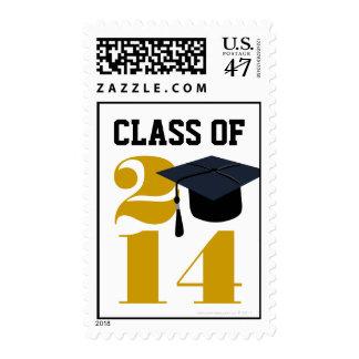 Class of 2014 Grad Cap Graduate Postage Stamp